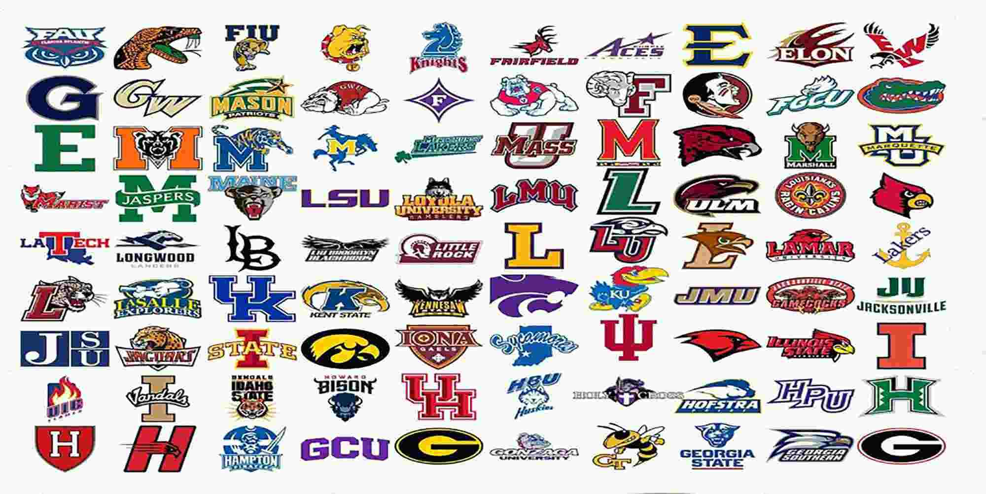 All College Logos Bundle 385 College Logos Cricut Logos