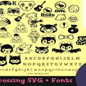 50+ Animal crossing SVG Megapack! Get animal crossing Clipart SVG & silhouette for Cricut
