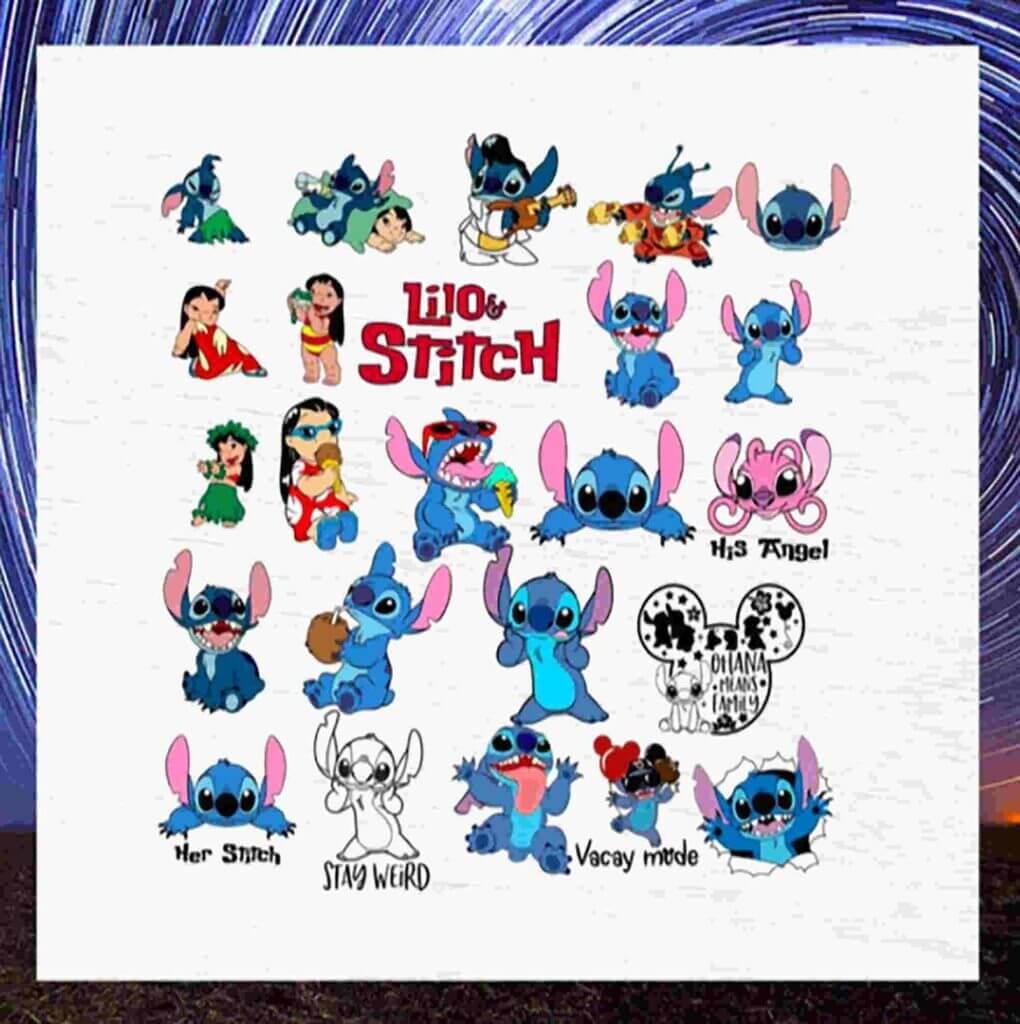 Disney Stitch Svg Bundle Stitch Bundle Lilo Svg Files