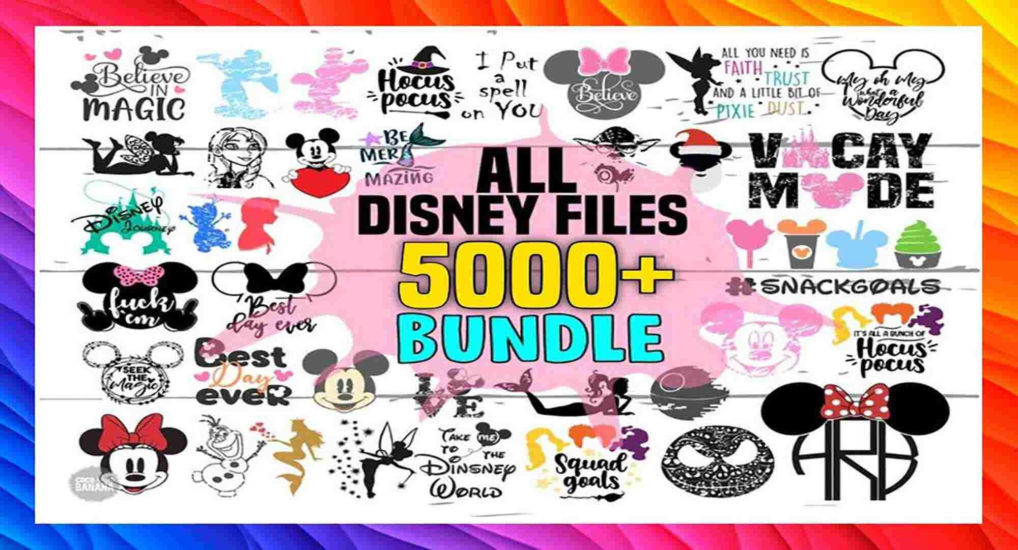 5000 All Disney Files Svg Bundle Svg Files For Cricut Huge Svg Bundle Clipart Svg Cut Files Svg Digitale Svg