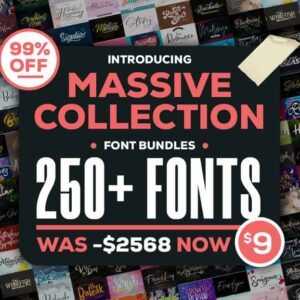 250 Fonts Collection Bundle – Fonts Bundle, Fonts Collection