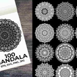 100 Circular Mandala Art
