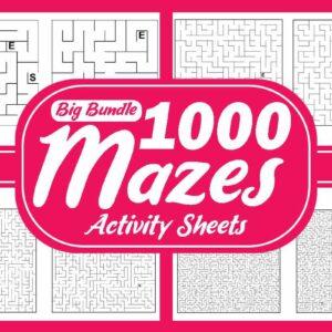 1000 Maze Puzzles Activity Sheets