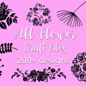 200+ All Flower Craft Bundle, Flower Cut File, Mandala Flower Cut File Bundle, Sunflower