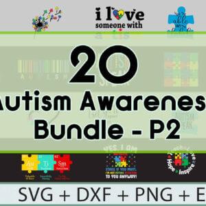 40 Autism Awareness SVG Bundle – Part 1-2