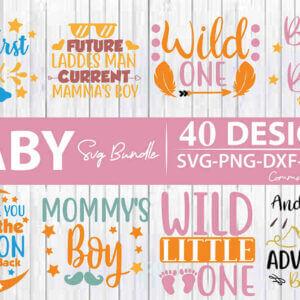 Baby SVG Bundle – 40 Designs