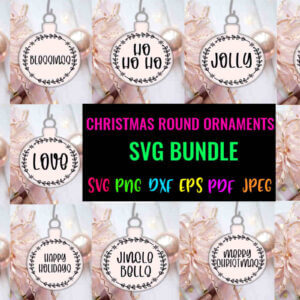Christmas Round Ornaments Bundle