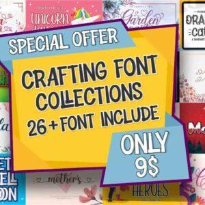 Crafting Font Bundle, 26 premium fonts, Unicorn Dancing, Orange Cat's, Doctor Heroes