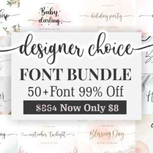 Designer Choice – Font Bundle, 50 Premium