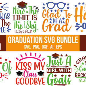 Graduation SVG Bundle, Class of 2020, Class Dismissed 2020, Senior 2020