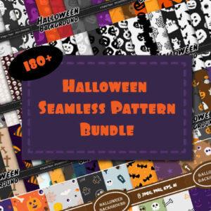 180+ Halloween Seamless Patterns Bundle, Halloween Digital Paper, Halloween Seamless