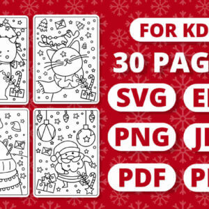 KDP Christmas Coloring Book for Kids