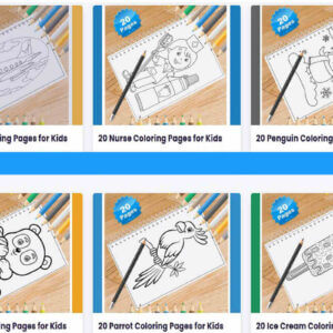 Kids Coloring Pages Bundle