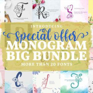 Monogram Fonts Big Bundle, Monogram Fonts