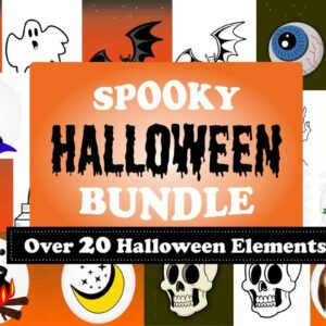 Spooky Halloween Bundle, Decorations, Worksheets, Coloring Books