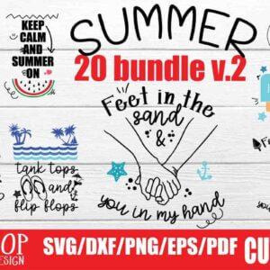 Summer Love Home Crafts Bundle Vol 1 and Vol 2, Hello Sunshine, Hello Summer, Thankful for Summer
