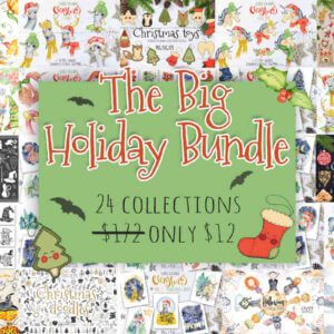 The Big Holiday Bundle, Christmas clipart, Halloween clipart, Thanksgiving day