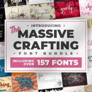 The Massive Crafting Font Bundle