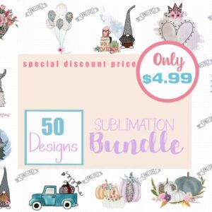 50 Designs Sublimation Bundle
