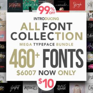 All Fonts Collection – Mega Typeface Bundle