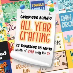 All Year Crafting – Font Bundle