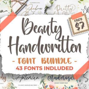 Beauty Handwritten Fonts Bundle