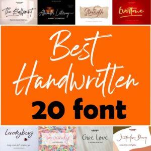 Best Handwritten Font Bundle