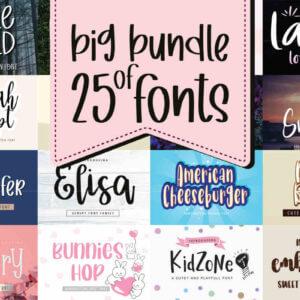 Big Bundle of 25 Fonts