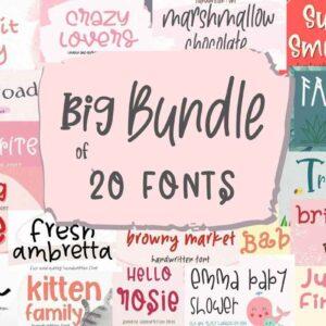 Big Fonts Bundle Vol-3