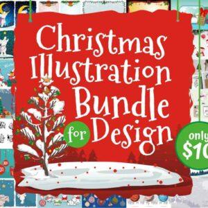Christmas Illustration Bundle for Design