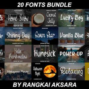 Fonts Bundle Vol-2