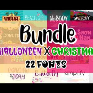 Halloween & Christmas Fonts Bundle