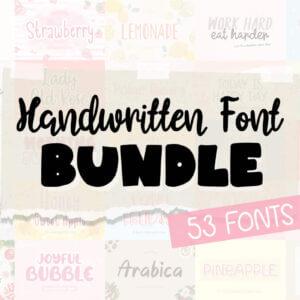 Handwritten Fonts Bundle