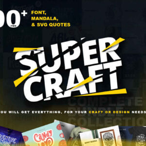 Super Crafts, Fonts, Mandala & SVG Bundle