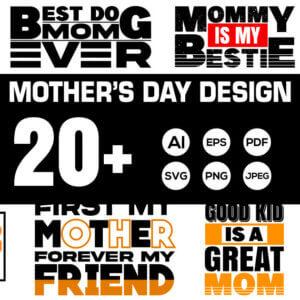 Mother's Day T-Shirt Design Bundle Vol-5